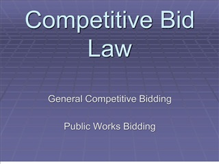 Competitive Bid Law