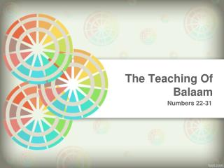 The Teaching  Of  Balaam