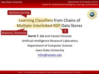 Learning Classifiers from  Chains of Multiple Interlinked RDF Data Stores
