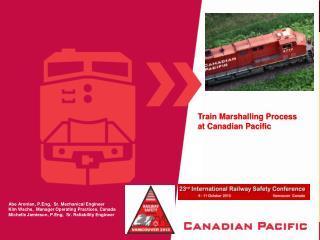 Train Marshalling Process at Canadian Pacific