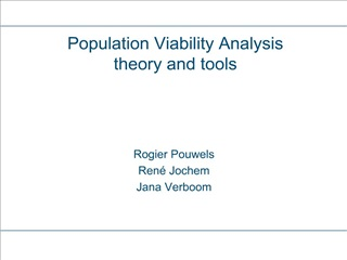 Population Viability Analysis theory and tools