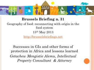 Brussels Briefing n. 31 Geography of food: reconnecting with origin in the food system