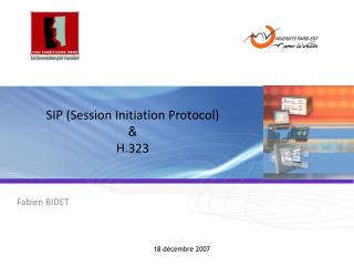 SIP Session Initiation Protocol  H.323