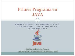 Primer Programa en JAVA