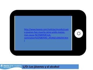 L/O: Los  jóvenes  y el alcohol
