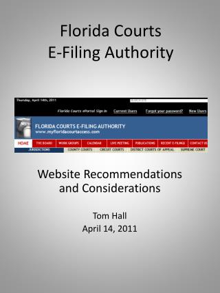 Florida Courts  E-Filing Authority
