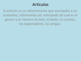 Art�culos