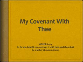 My Covenant With Thee