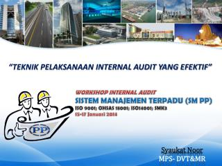 Syaukat Noor MPS- DVT&MR