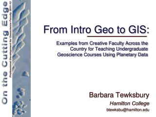 From Intro Geo to GIS: