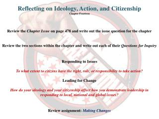 Reflecting on  Ideology, Action,  and Citizenship Chapter  Fourteen
