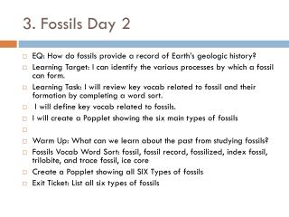 3. Fossils Day 2