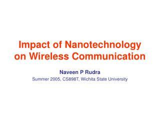 Impact of Nanotechnology on Wireless Communication