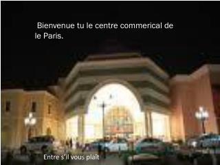 Bienvenue  tu  le centre  commerical de le Paris.