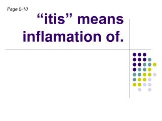 itis  means inflamation of.
