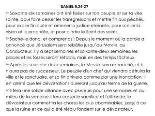 DANIEL 9.24-27