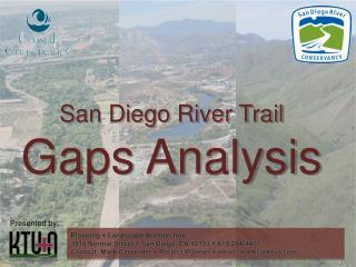 San Diego River Trail Gaps Analysis