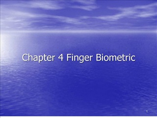 Chapter 4 Finger Biometric