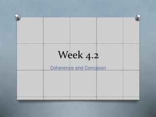Week  4.2