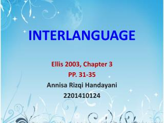 INTERLANGUAGE