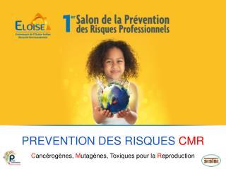 PREVENTION DES RISQUES  CMR C ancérogènes,  M utagènes, Toxiques pour la  R eproduction
