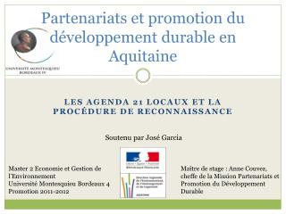 Partenariats et promotion du d�veloppement durable en Aquitaine