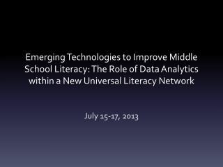 July 15-17, 2013