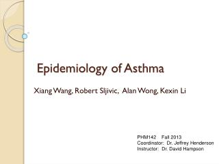 Epidemiology of Asthma