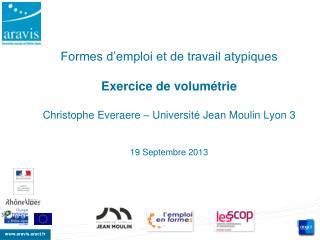 Répartition : emplois typiques / emplois atypiques
