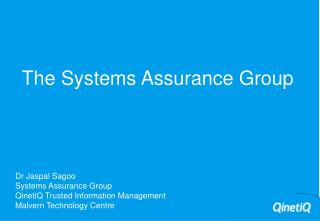 The Systems Assurance Group