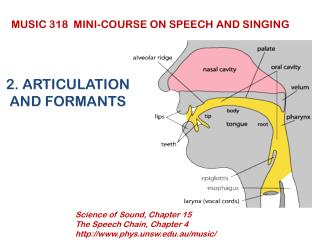 2. ARTICULATION AND FORMANTS