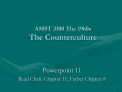 AMST 3100 The 1960s The Counterculture