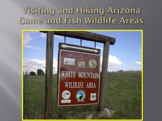 Visiting and Hiking Arizona Game and Fish Wildlife Areas