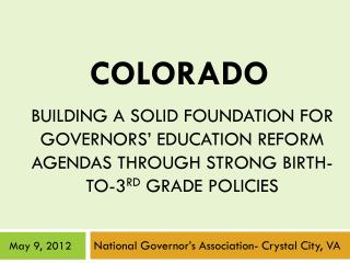 National Governor's Association- Crystal City, VA