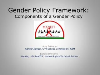 Gender Policy Framework: Components of a Gender Policy