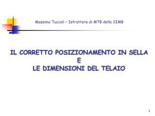 Massimo Tuccoli   Istruttore di MTB della SIMB