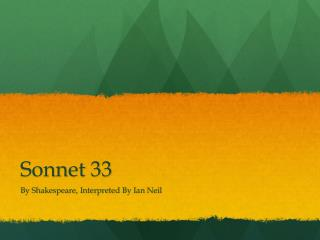 Sonnet 33