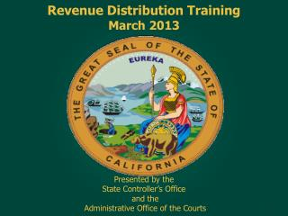 Revenue Distribution Training March 2013