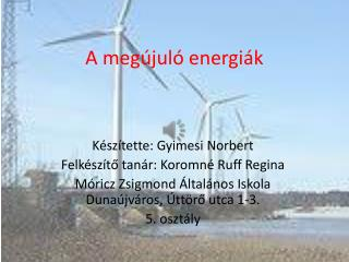 A megújuló energiák