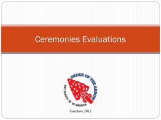 Ceremonies Evaluations