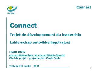 Connect Trajet de développement du leadership Leiderschap ontwikkelingstraject
