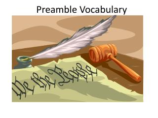 Preamble Vocabulary