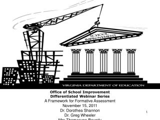 Office of School Improvement Differentiated Webinar Series A Framework for Formative Assessment