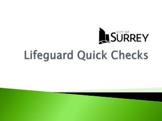 Lifeguard Quick Checks