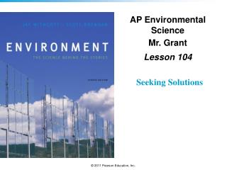 AP Environmental Science Mr. Grant Lesson  104