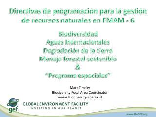 Directivas de programación para la gestión de recursos naturales en FMAM - 6