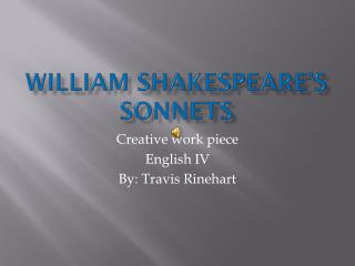 William Shakespeare�s sonnets