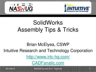 SolidWorks Assembly Tips & Tricks