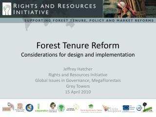 Forest  Tenure Reform Considerations for design and implementation