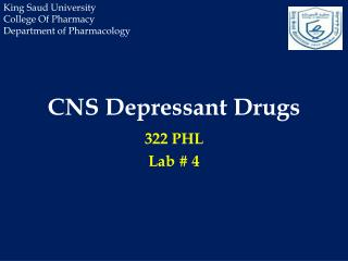 CNS Depressant Drugs